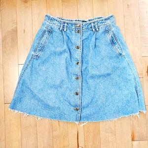 Vintage Liz Wear button down denim skirt